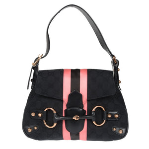 Limited Edition Guccissima Canvas Pink & Black Satin Mini Shoulder Bag