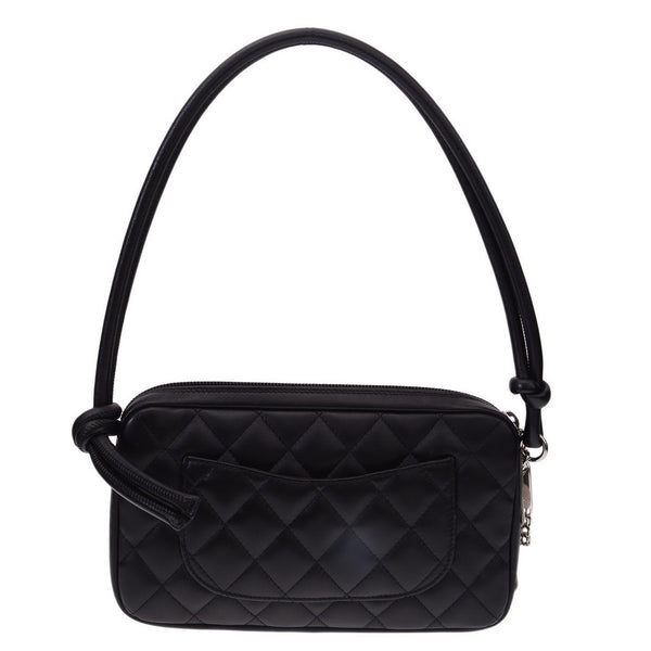 Black Quilted Lambskin Cambon Clutch bag
