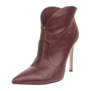 Mable 85 Burgundy Leather Ankle Boots