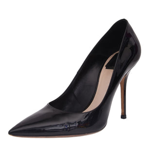 Black Patent Pumps Leather Pointed Toe Heels