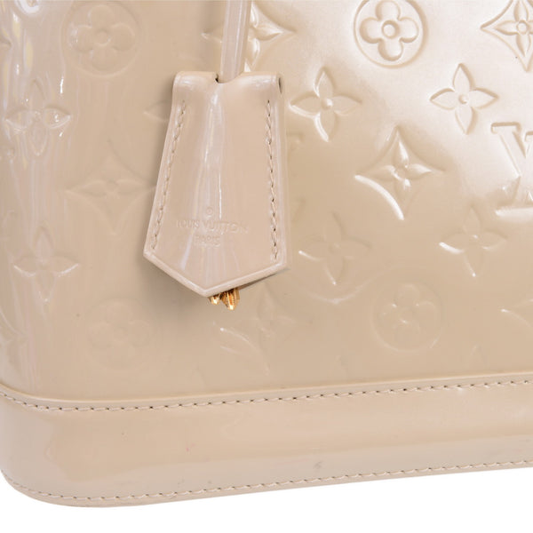 Cream Monogram Alma MM Bag