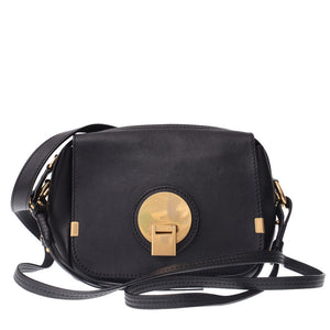 Black Leather Indy Camera Bag Crossbody