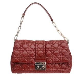 Miss Dior Red Patent Leather Shoulder Bag