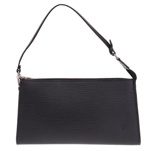 Black Epi Leather Clutch