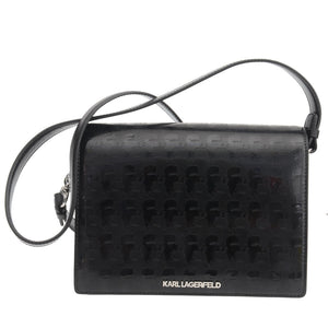 Black Patent Leather Cross Body Bag