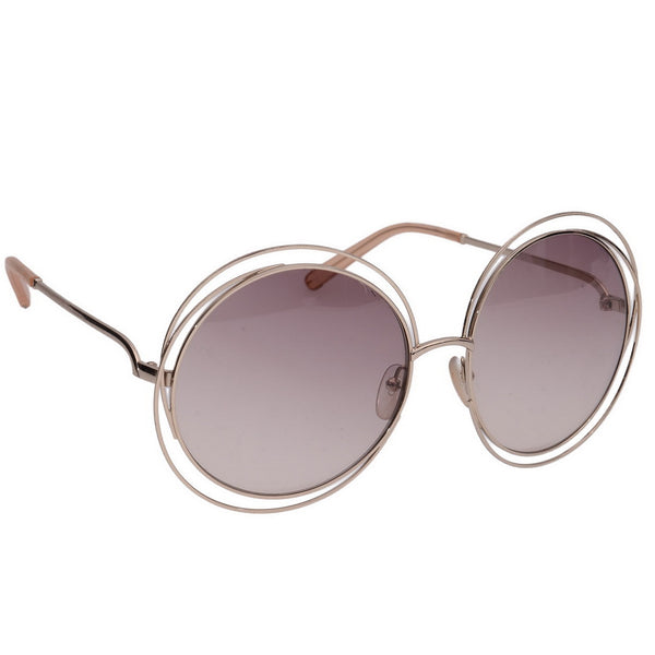 Carlina Gold Round Sunglasses