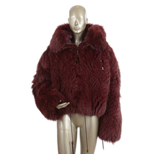 Fox Purple Fur Hooded Jacket