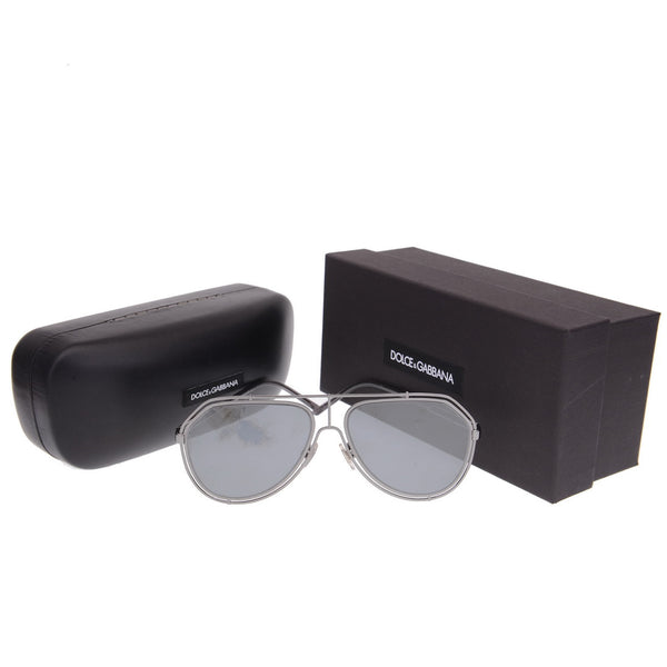 Gunmetal Metal Aviator Sunglasses Grey Mirror Lens