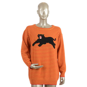 Red & Yellow Striped Panther Wool Jumper