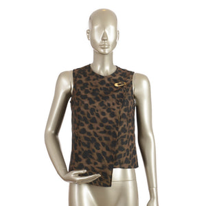 Leopard Top With Pin