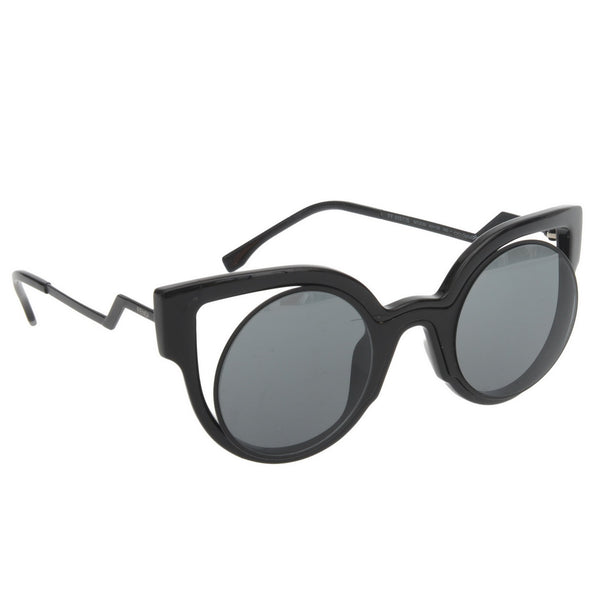 Black Cut Out Cat Eye Sunnies