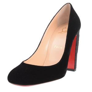 Black Cadrilla Corazon 100 Appliquéd Velvet Pumps