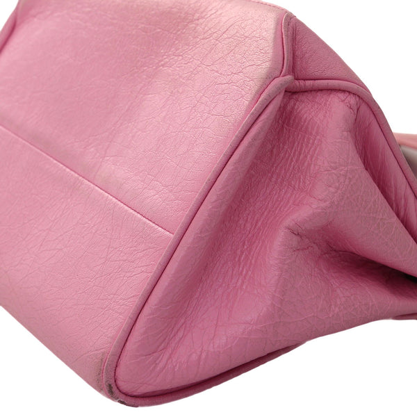 Quilted Pink Accordion Flap Handbag