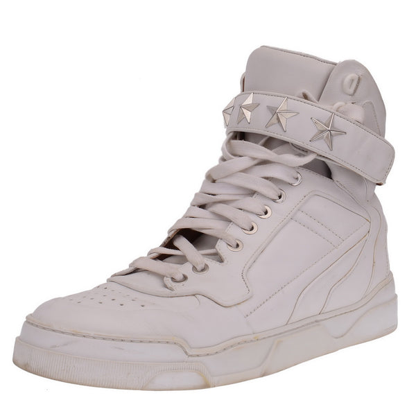 d41489c04bf Tyson Star Studded Leather High Top Sneakers – PrePorter Luxury