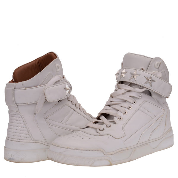 Tyson Star Studded Leather High Top Sneakers