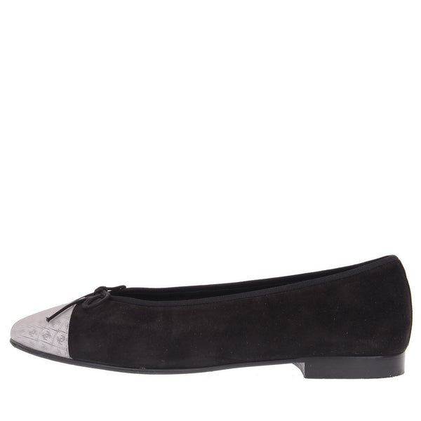 Black Suede Kid 3D Flats