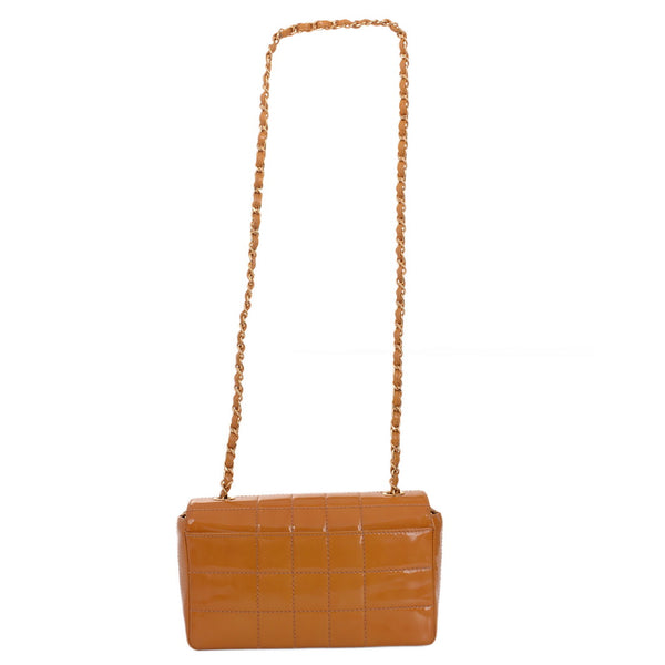 Camel Patent Classic Shoulder Bag