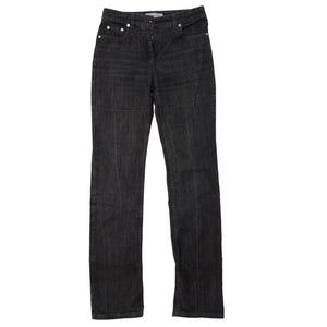 Washed Black Straight Denim