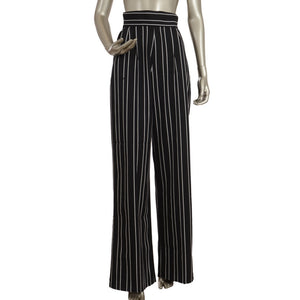 Striped Black & White Wide Leg