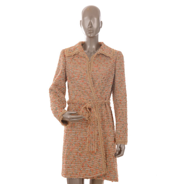 Gold Multi-Color Tweed Coat