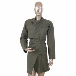 Olive Green Robe Dress