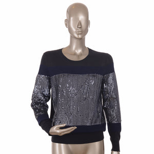 Navy Blue Sequin Sweater