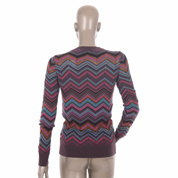 Multi-Coloured ZigZag Cardigan