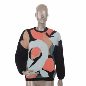Black With Colorful Patchwork Jumper