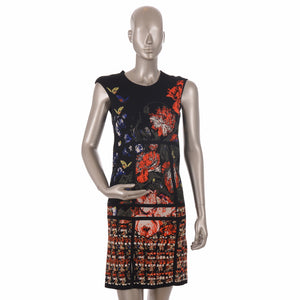 Floral Patterned Trapeze Dress