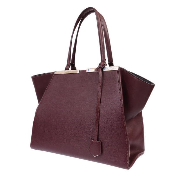 3Jour Burgundy Leather Hand Bag