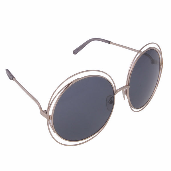 Carlina Oversized Round-Frame Sunglasses