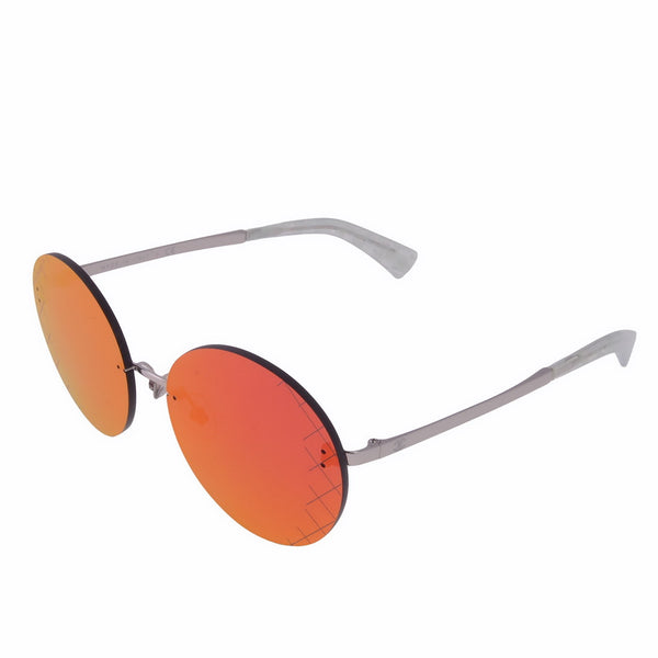 Red Timeless Round Runway Mirrored Sunglasses