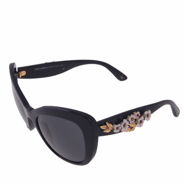 Black 4230 Almond Flower Cat Eye Sunglasses
