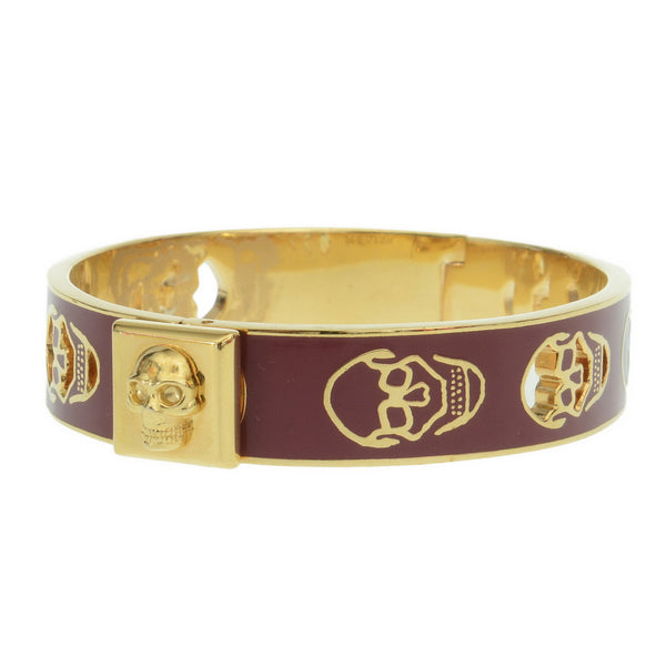 Purple Skulled Gold Bangle