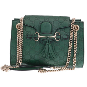 Green Microguccisima Mini Emily Shoulder Bag