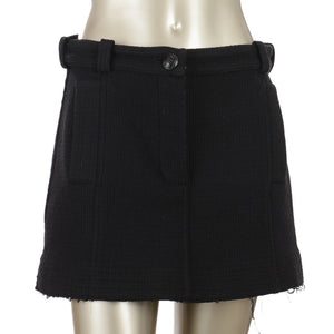 Tweed Black Short Skirt