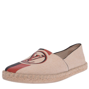 Natural Logo Canvas Espadrilles Tan