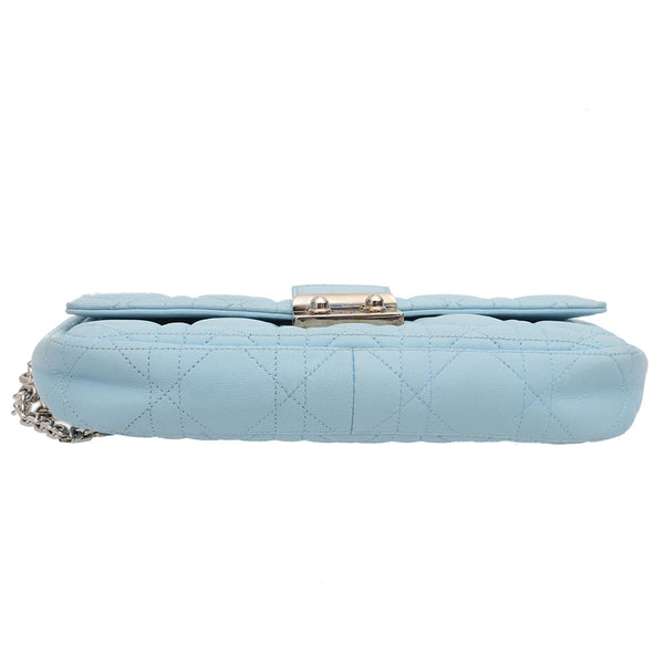 Baby Blue Miss Promenade Cannage Quilted Leather Crossbody