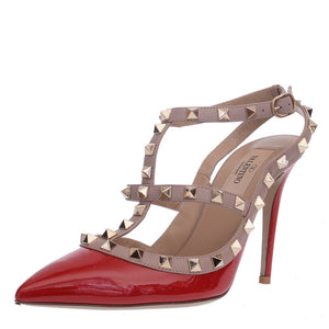 Red Patent Leather Rockstud Courts