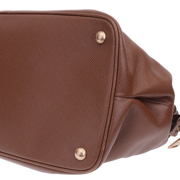 Brown Promenade Leather Handbag