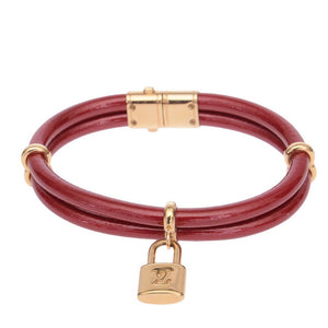 Keep It Twice Red Lock Bracelet
