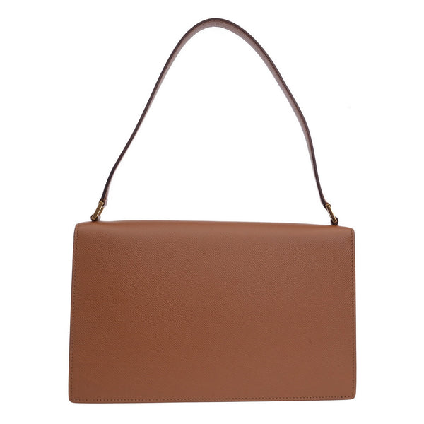 Camel Structured Shoulder Bag