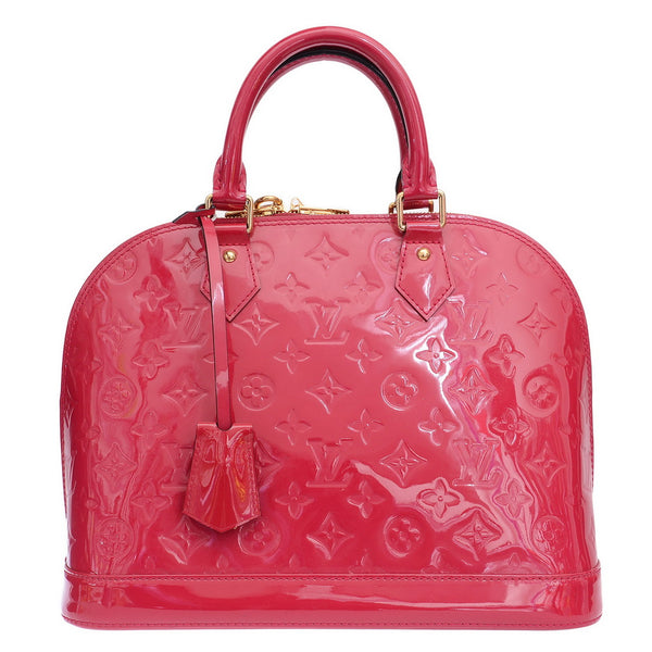 Fuchsia Monogram Alma PM Hand Bag