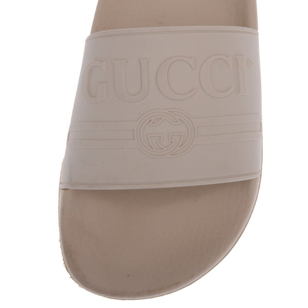 White Pursuit Logo-Embossed Rubber Pool Slides