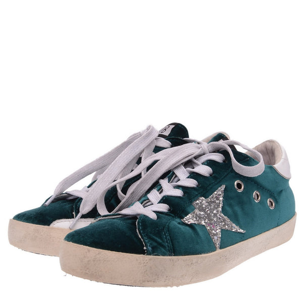 Green Velvet Trainers Private Edition