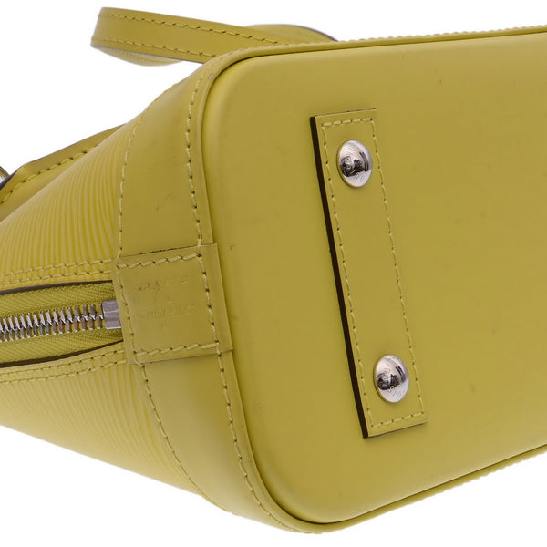 Alma BB Leather Satchel Yellow Epi Leather Shoulder Bags