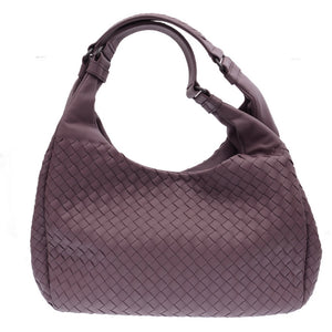 Light Purple Leather Hobo Bag