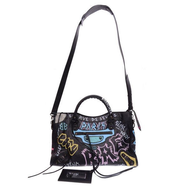 Classic City Graffiti Leather Handbag