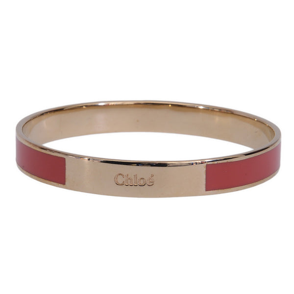 Holly Gold Enamel Fuchsia Logo Bangle