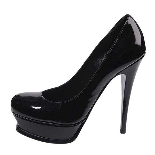 Black Patent Leather Tribute Pumps